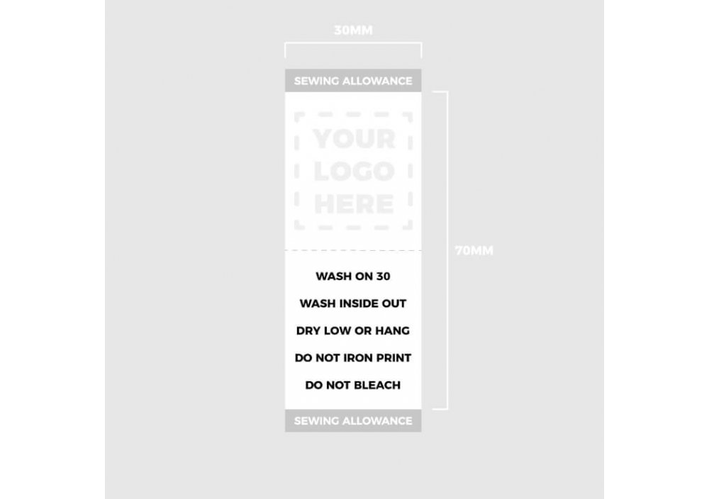 Woven Label Template